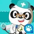 cartoon panda doctor